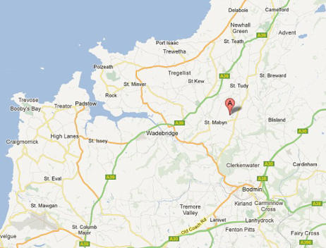 Map of North Cornwall self catering accommodation